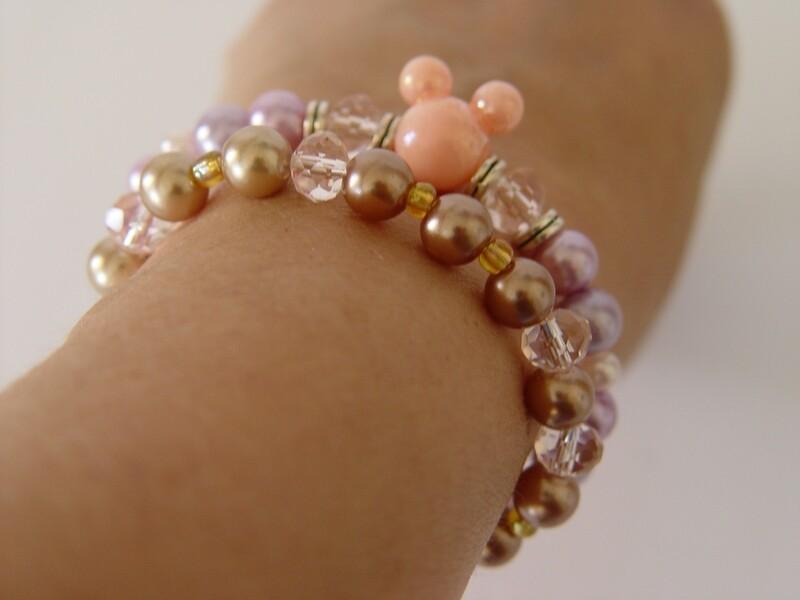 Minnie Mouse Bracelet set
