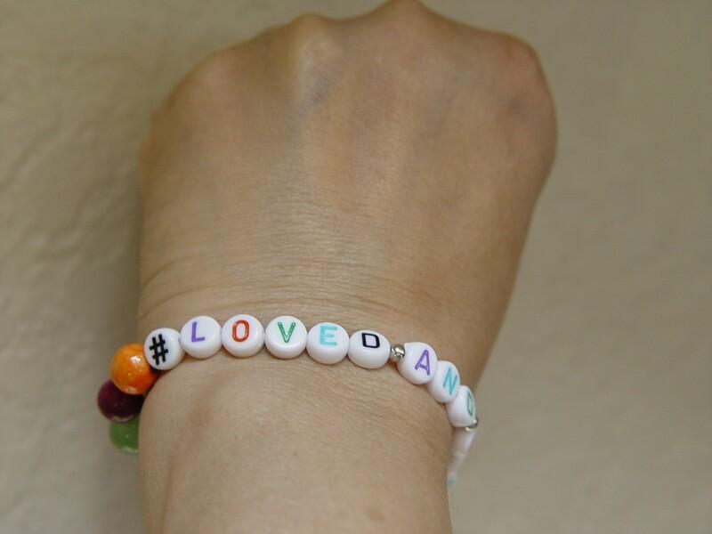 #Loved And Blessed Bracelet