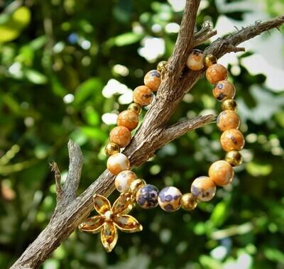 Rain Flower orange Bracelet