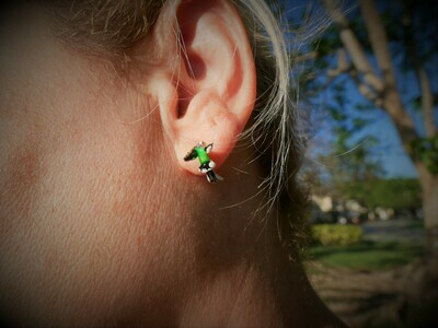 Hummingbird earring