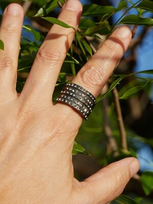 Ring with Zirconia stones
