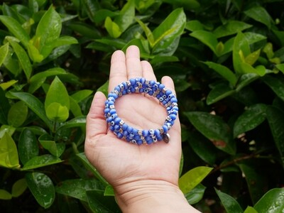 Triple-Row Bracelet - Light Blue