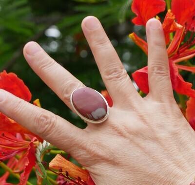 Silver Noreena Jasper Gemstone Ring