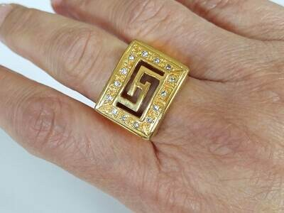 Samantta Ring 18K Yellow Gold Plated With zirconia stones