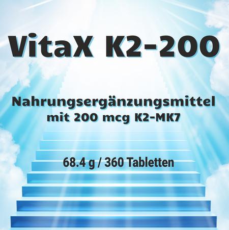 MyGrace VitaX K2-200 mit 200 mcg K2-MK7 / 360 Tabletten