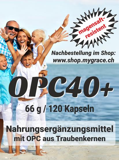 MYGRACE OPC40+ Traubenkernextrakt mit geprüftem OPC Gehalt 150 mg Oligomere pro Kapsel