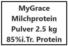 MyGrace Milchproteinpulver 2.5 kg 85%i.Tr. Protein