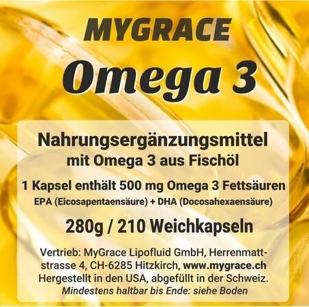 MYGRACE Omega 3-500 mit 210 Kapseln