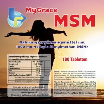 MSM 4 Monats-Pack (2 x 180 Tabletten)