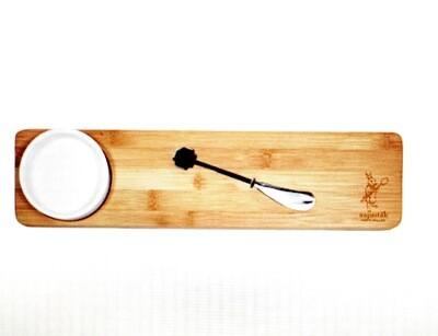 Bamboo Board with Dish