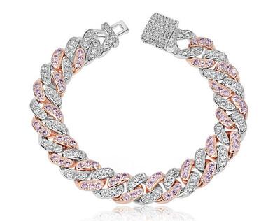 2 Toned Cuban Link Bracelet