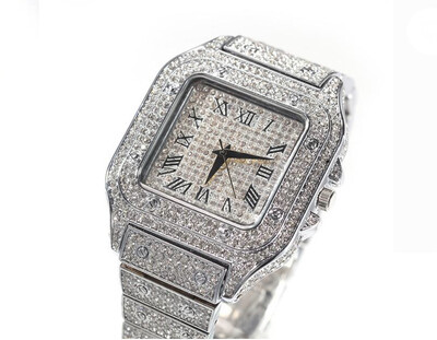 ICED OUT SQUARE FACE WATCH