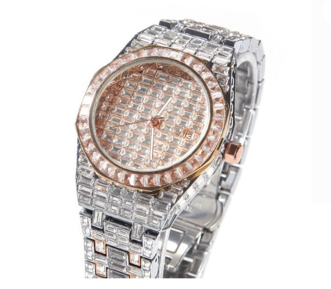 ICED OUT BAGUETTE WATCH