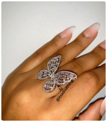DIVA BUTTERFLY RING