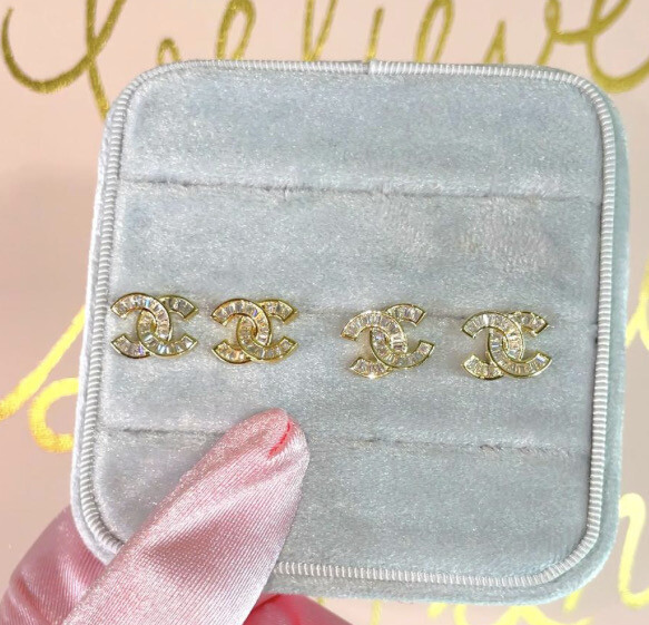 COCO BAGUETTE STUDS   GOLD