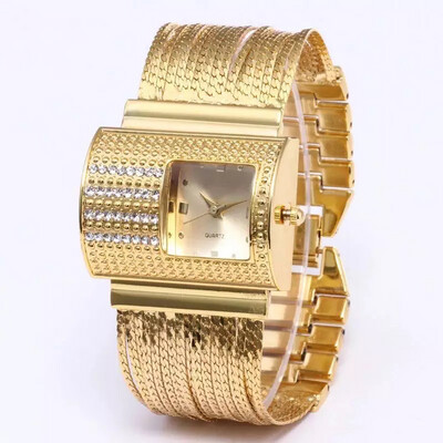 Luxury Gold Steel Watch