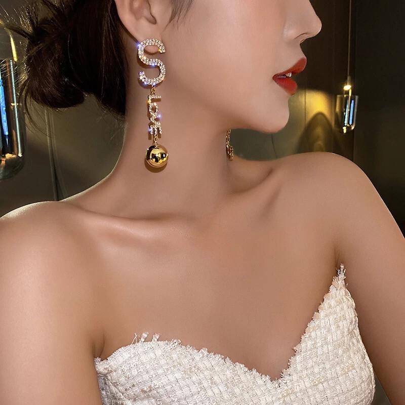 Tassel Shining Earrings