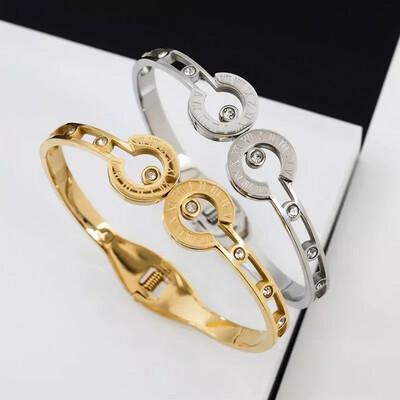 Stainless Steel Open Cuff Bracelet