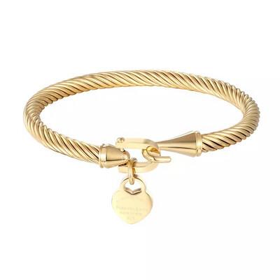 Charm Wire Bracelet