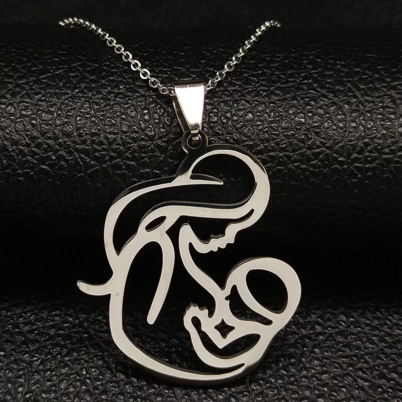Mom BABY Stainless Steel Necklace