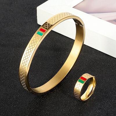 Luxury Bracelet and Ring Set