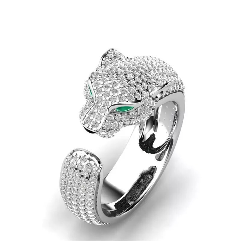 Crystal Leopard Ring