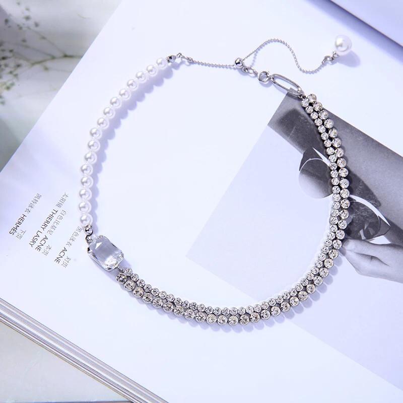 Pearl Diamond Choker