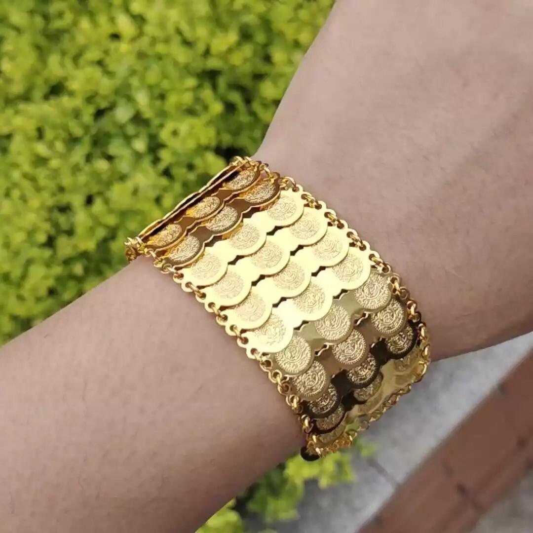 Coin Drop Gold Bracelet