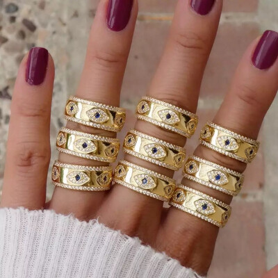 Blue Eye Gold Ring