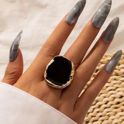 Luxury Black Stone Ring