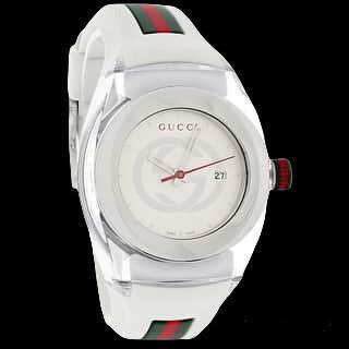Gucci Women's Two-Tone Rubber Watch - Silver