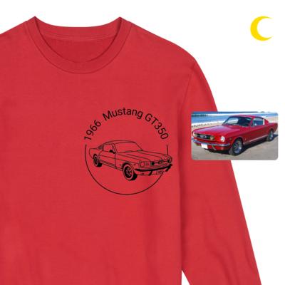Iliustruotas tavo svajonių automobilis ant džemperio
