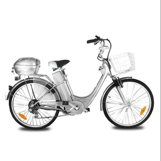 Vélo électrique City Bike 250 Gris