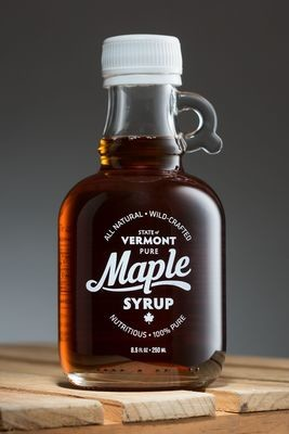Glass jug of Pure Vermont Maple Syrup, 8.5 ounce