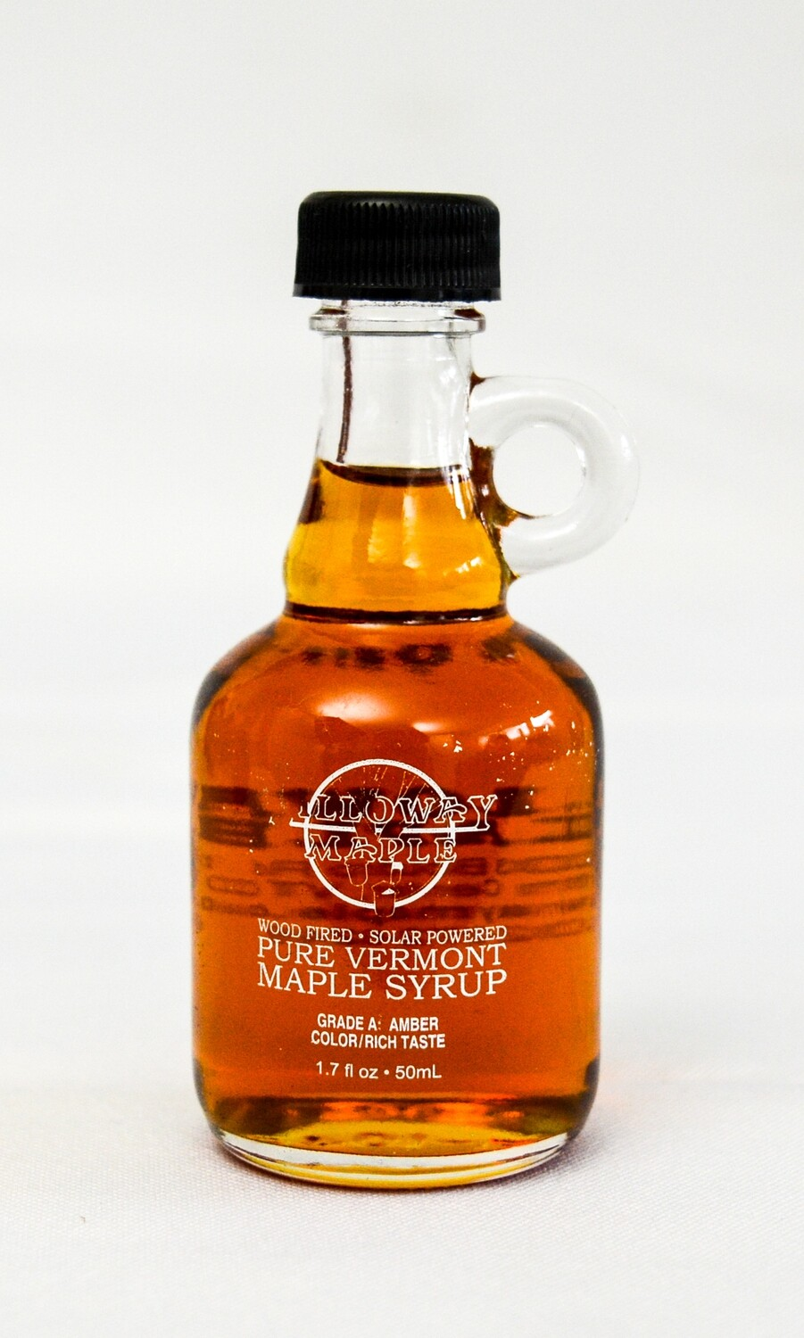 Pure Vermont Maple Syrup, 1.7 ounce glass