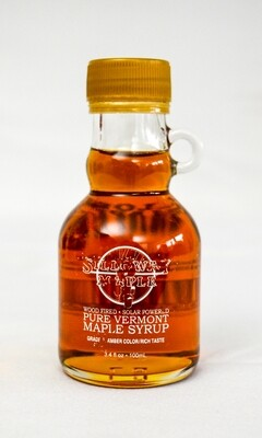 Pure Vermont Maple Syrup, 3.4 ounce glass