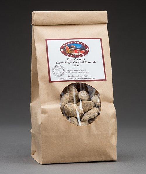 Maple Sugar Coated Almonds  6 ounces
