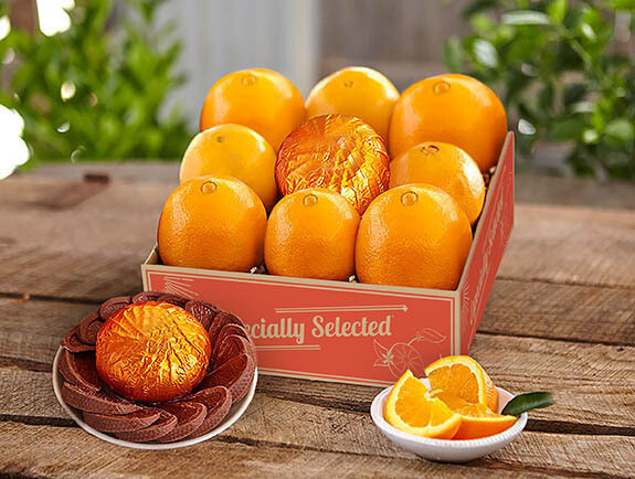 Oranges with Chocolate