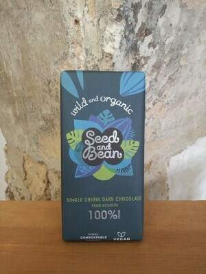 Seed and Bean 100% Dark Chocolate Bar