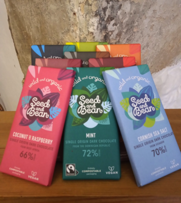 Seed and Bean Dark Chocolate Bars