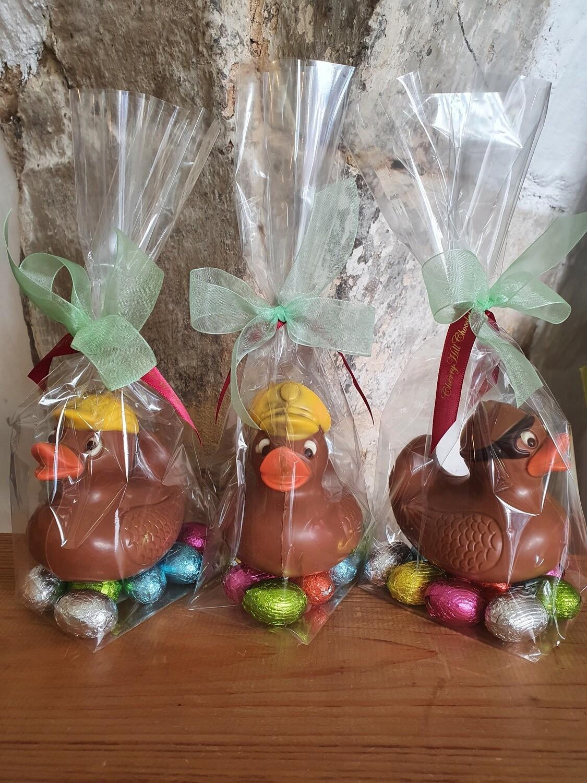 Milk Chocolate Duckies on Mini Eggs