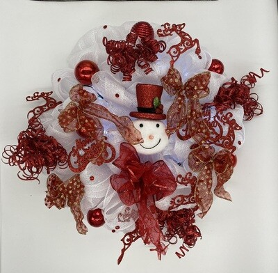 Christmas Wreath Red and White
