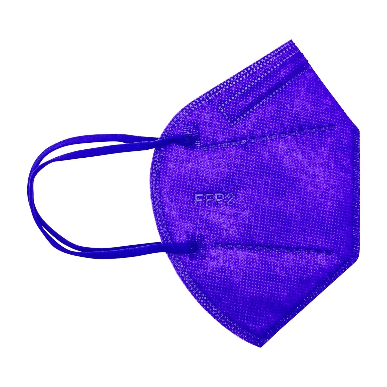 10er Pack Kinder FFP2 Schutzmaske violett