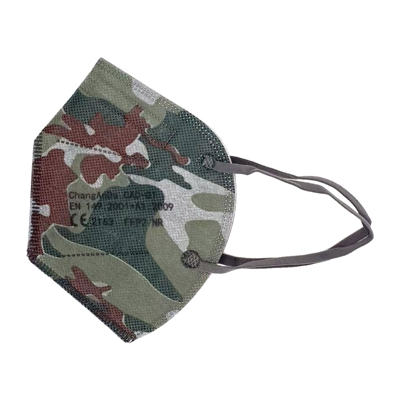 10er Pack Kinder FFP2 Schutzmaske military