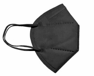 10er Pack FFP2 Schutzmaske SCHWARZ - Made in EU