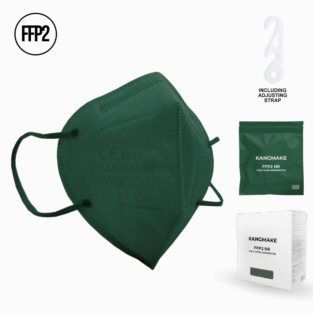 10er Pack FFP2 Schutzmaske DUNKELGRÜN