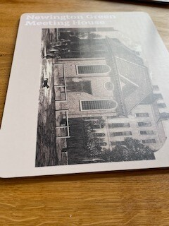 Newington Green Meeting House Coaster