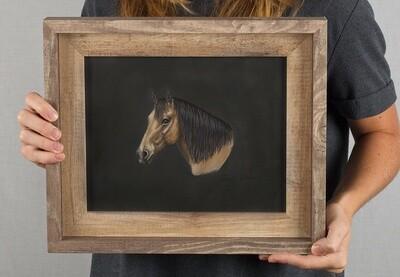 Buckskin Original Horse Painting