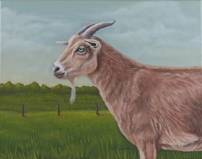 Original Goat Oil Painting