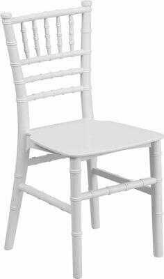 Kids White Resin Chiavari Chair